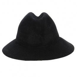 Chapeau Traveller Simple Black Feutre Laine Noir - Kopka