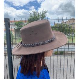 Chapeau Cuir Wallaroo Marron  - Jacaru