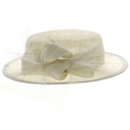 Chapeau de Cérémonie Carmen Blanc - Traclet