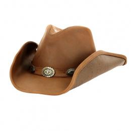 Chapeau Cowboy Right Now Cuir Camel - Bullhide
