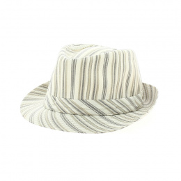 Trilby hat with stripes