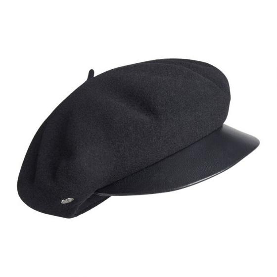 Sam Black Cap Beret - Heritage by Laulhère