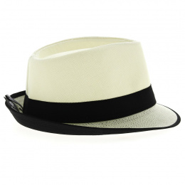 Chapeau Tribly Karl Blanc Papier Paille - Traclet