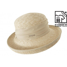 chapeau breton Lilwenn Paille Naturelle - Seeberger