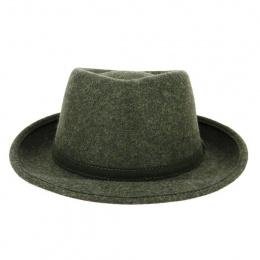 Chapeau Fedora Lysandro Feutre Laine Vert - Traclet
