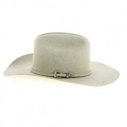 Chapeau Cowboy 6 Crosses Feutre Laine Beige - Bullhide