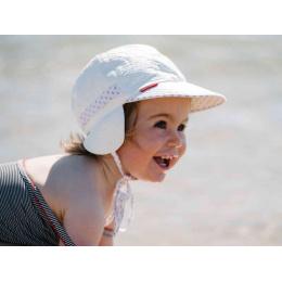 Casquette Bébé « Chloé » Protège-oreilles Anti-UV Rouge - Soway