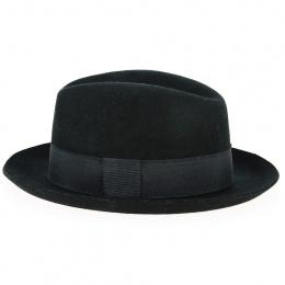 copy of Fedora Felt Hat Black Wool Waterproof Black Hat - Traclet