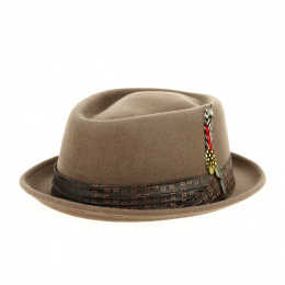 copy of Hat Porkpie Stout Wool Felt Hat Cypress - Brixton