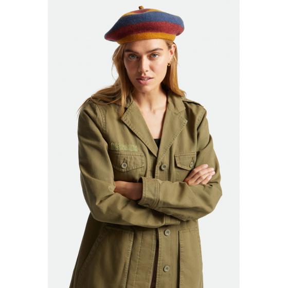 Béret Audrey Lion Multi Stripe Laine - Brixton