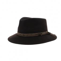 Chapeau fedora luca dark brown