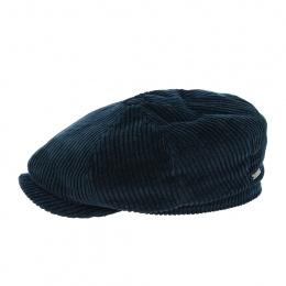 Casquette Hatteras Cord coton bleu marine - Stetson